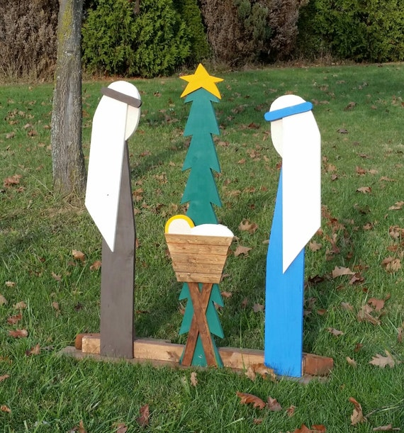 Outdoor Christmas Decorations Nativity Set Outdoor Wooden Nativity Set Christmas Decorations Outdoor Preorder For Christmas 2019