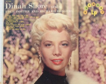 Dinah Shore Sings Cole Porter and Richard Rodgers Classic Contemporary Vinyl Record Vintage Album
