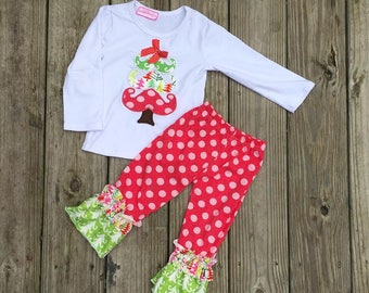 Christmas Boutique Outfit, Girls Christmas Outfit, Girls Christmas Boutique Dress, Christmas Boutique Outfit, Christmas Outfit for girls