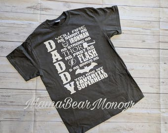69095110 Daddy superhero shirt, father's day shirt, father's day present, superhero  dad shirt, superhero daddy shirt, super dad shirt