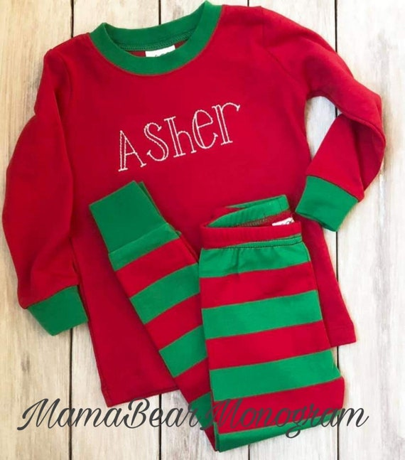 c033b16a89 Christmas Pajamas Christmas PJs Personalized Christmas