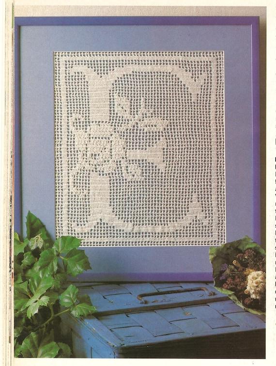 Alphabet Crochet Pattern Vintage Filet Crochet Pattern 24 Etsy