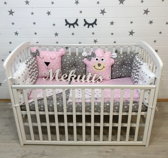 Cot Bumper Baby Bedding Set Gifts, Baby Cot Bedding Accessories