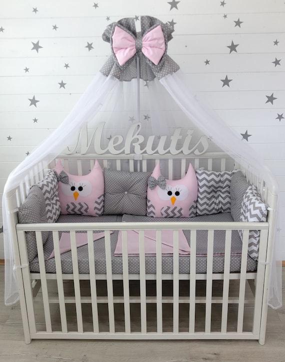 Cot Bumper Baby Bedding Set Baby Girl Gifts Crib Bumper Baby Etsy
