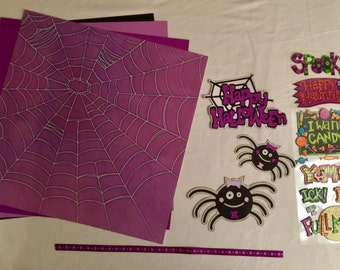 Happy Halloween Spiders Scrapbooking Kit