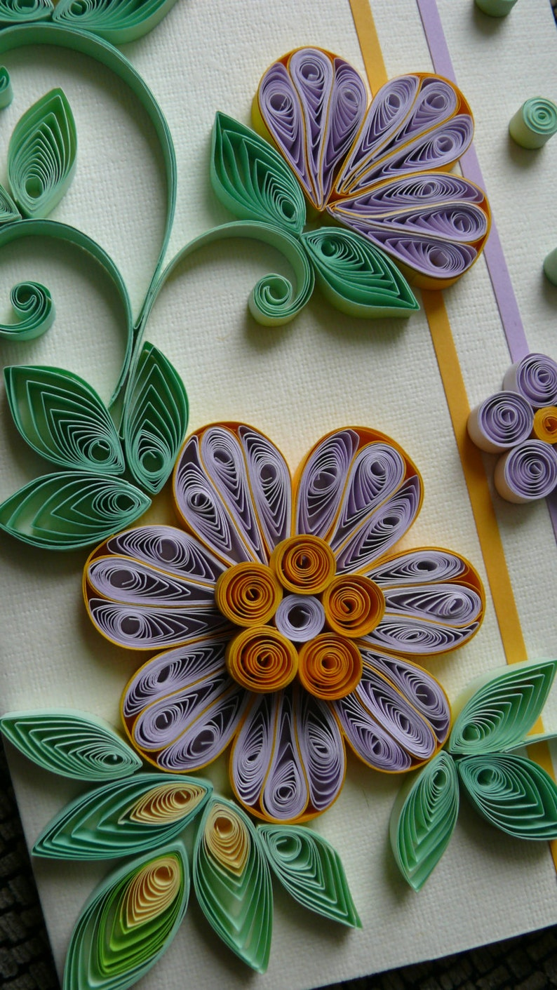 quilling greeting card quilled birthday card quilling card