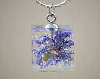Mothers day Gift Resin Jewellery Moss Cube Resin Pendant Australia Personal Gifts TanahaJane Necklace