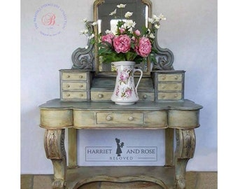 Dressing table Antique painted Victorian Duchess dressing table/painted furniture / Annie Sloan chalk paint / reloved /handpainted / mirror
