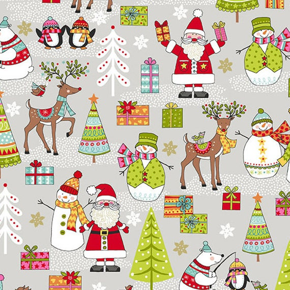 MAKOWER Tela-Navidad-Reno-Verde Algodón-Varios Tamaños