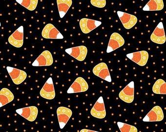 Broomhilda's Bakery by Maywood Studio - Candy Corn Dots Fabric