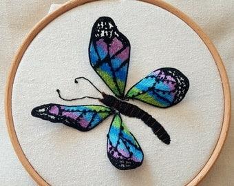 Rainbow Butterfly Stumpwork Kit