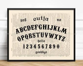 Ouija Planchette Ouija Board Talking Boards Fringe Art Victorian Ghost Horror Decor Reclaimed Paper Wall Hanging Halloween 305  sc 1 st  Etsy & Ouija board wall art | Etsy