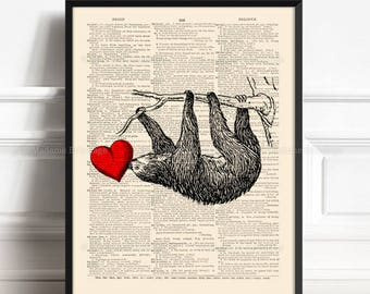 Sloth, Brother Poster Gift, Best Aunt Gifts, Sloth Gift For Girls, Sloth Baby Gift, Gifts for Her, 3rd Anniversary Gift, Friendsgiving  380