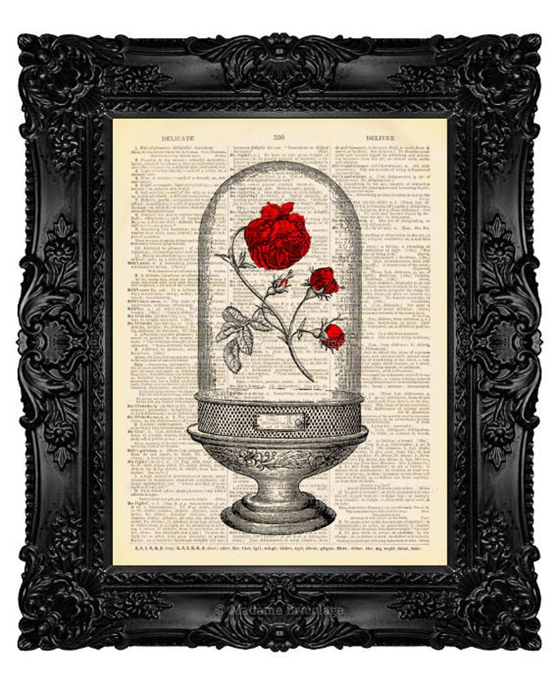 Beauty and the Beast Enchanted Rose Print Beauty and the Beast image 0