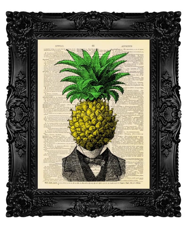 Ananas Decor lustige Kunstdruck lustige Küche Kunst lustige | Etsy