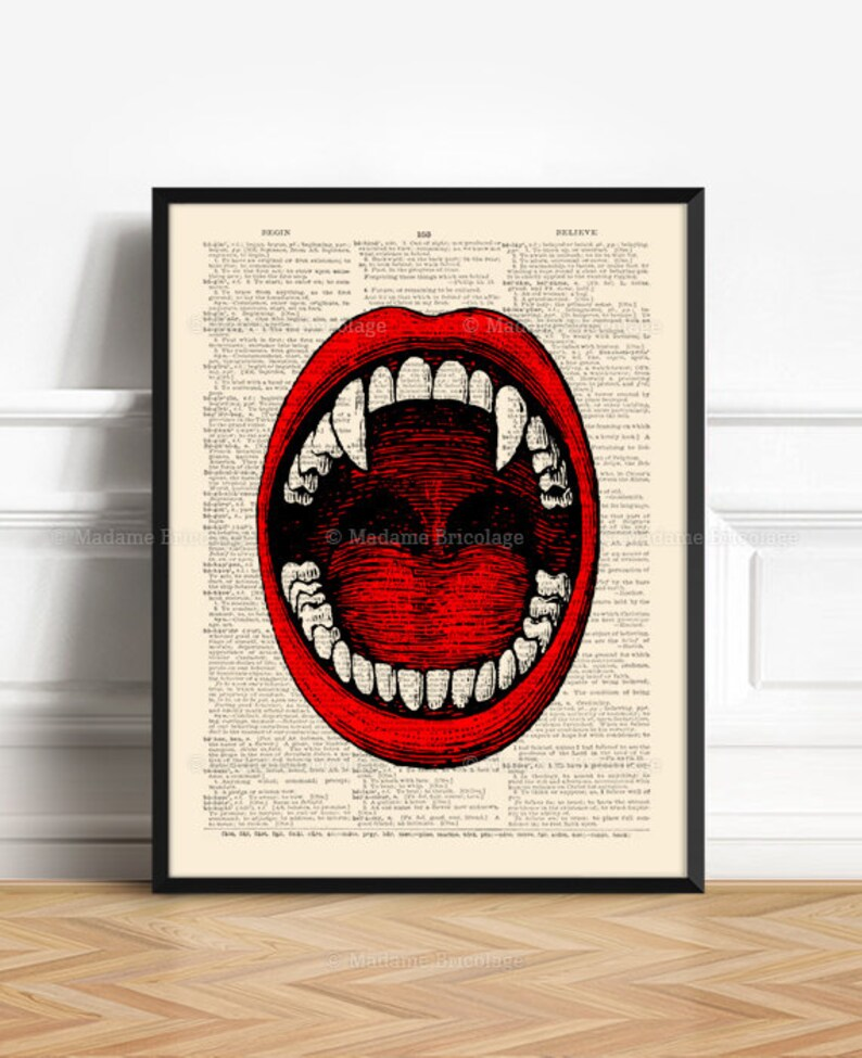 Vampire Anatomy Vampire Teeth Fangs His 40th Birthday image 0