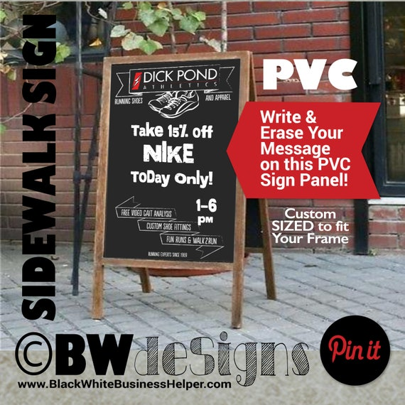 Custom PVC Rigid Panel Signs for Sandwich Board A-Frame 24x36 STANDARD Sign  Design- ANY Size Available- Outdoor Sign- Waterproof Signage