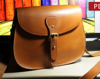 0ea72df23a4f Leather bag pattern with tutorial Leather pattern Bag instructions DIY Pdf  Pattern