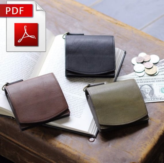 Patron Cuir Motif Bifold Maroquinerie De Main Pièce En À Porte Monnaie Sac Modèle XiuOPwkZT