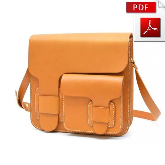 Leather bag pattern Leather pattern Leather template Leather | Etsy