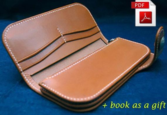 leather pattern wallet pattern purse pattern leather template etsy