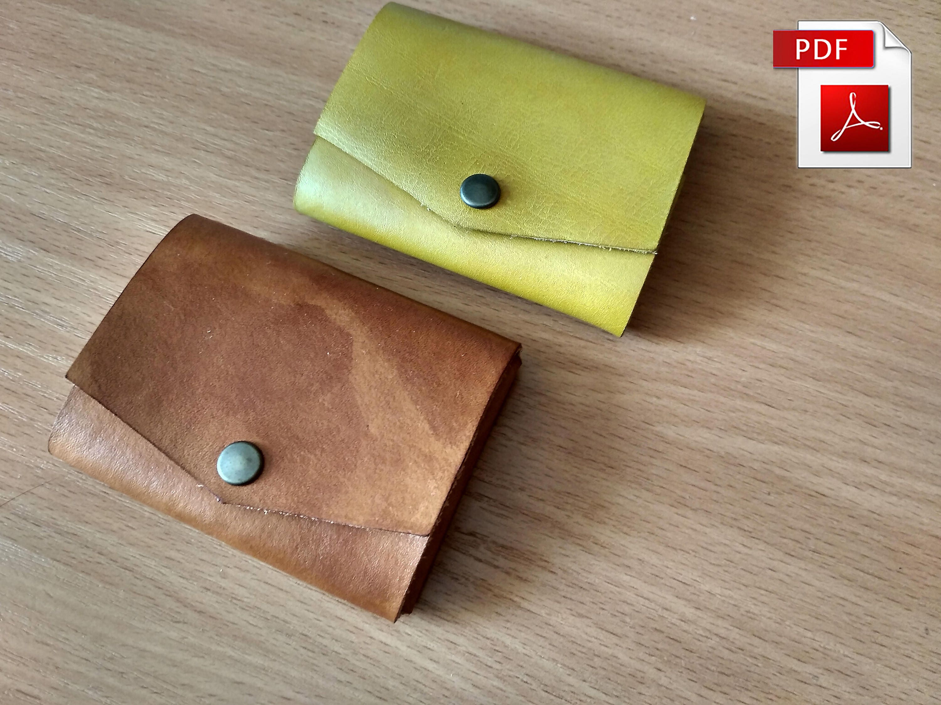 Minimalist Wallet Pattern Leather Template Small Slim