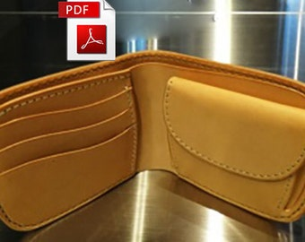 Leather pattern of small wallet with tutorial.PDF