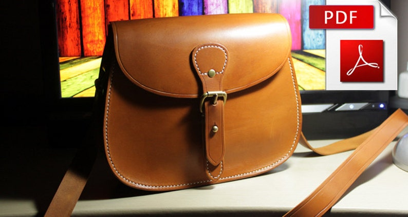 a2f80c3f1cb5 Leather bag pattern with tutorial Leather pattern Bag