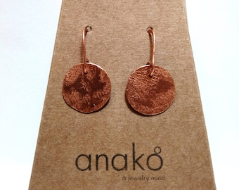 Small Copper earrings