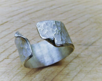 Open Wave silver ring
