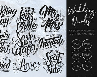 Wedding Quotes SVG Bundle