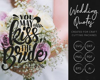 Kiss The Bride SVG