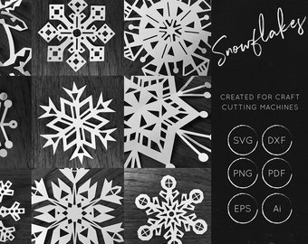 Snowflakes SVG Bundle