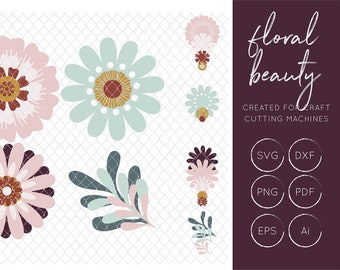 Floral SVG Cut File - FCM Cut File
