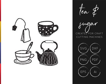 Tea SVG cut file set