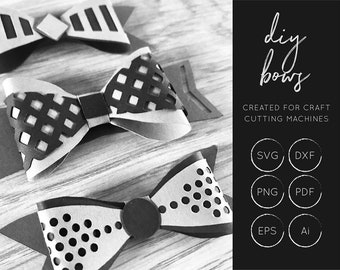 DIY Bows SVG, 3D Bow SVG