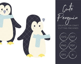 Penguin SVG, Penguin cut files
