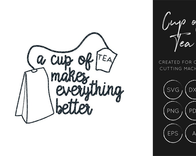 Tea Cup SVG, Cup of Tea SVG cut file