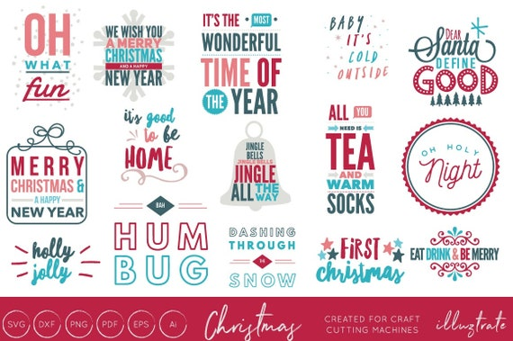 Christmas Song Quotes Christmas Quotes Bundle SVG Bundle Christmas SVG Cut files | Etsy Christmas Song Quotes