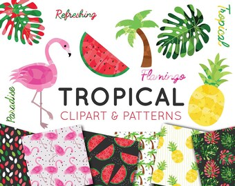 Tropical Clipart Set
