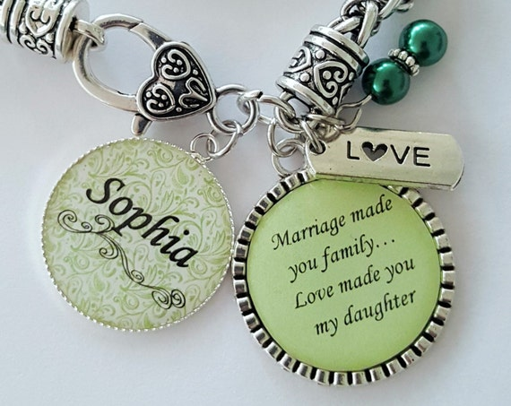 PERSONALIZED Step Daughter Gift / Daughter in Law Gift / Step Daughter Bracelet / Gift for Step Daughter / Daughter in Law Wedding Gift