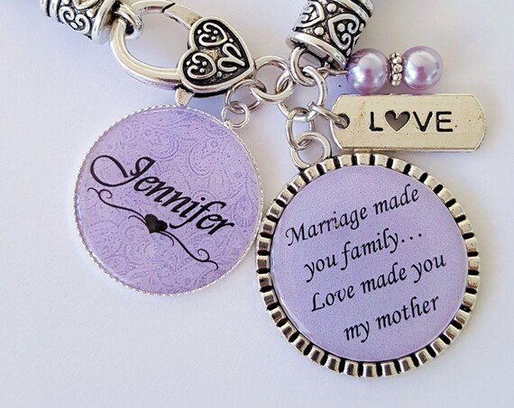 PERSONALIZED Step Mother Gift / Mother of the Groom Gift / Step Mother Bracelet / Gift for Mother in Law / Step Mother Wedding Gift