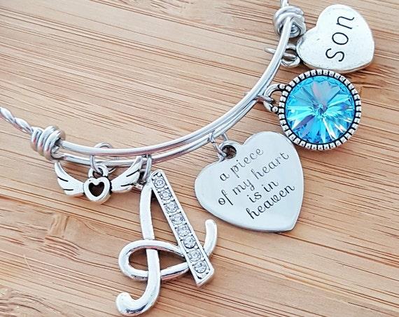 Sympathy Bracelet Sympathy Gift In Memory of Son Memorial Bracelet Loss of Son Loss of a Child Remembrance Bracelet Remembrance Jewelry