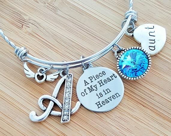 Sympathy Bracelet Sympathy Gift In Memory of Aunt Memorial Bracelet Loss of Aunt Memorial Bracelet Remembrance Bracelet Remembrance Jewelry