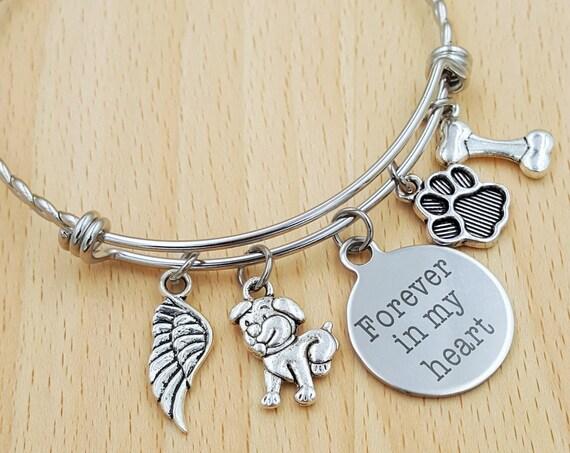 Pet Memorial Bracelet Loss of Dog Bracelet Loss of Pet Bracelet Loss of Cat Loss of Pet Gift Loss of Family Pet Gift Pet Remembrance Jewelry