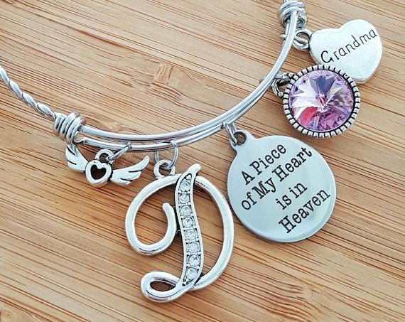 Sympathy Bracelet Sympathy Gift In Memory of Grandma Memorial Bracelet Loss of Grandmother Grandma Remembrance Bracelet Remembrance Jewelry