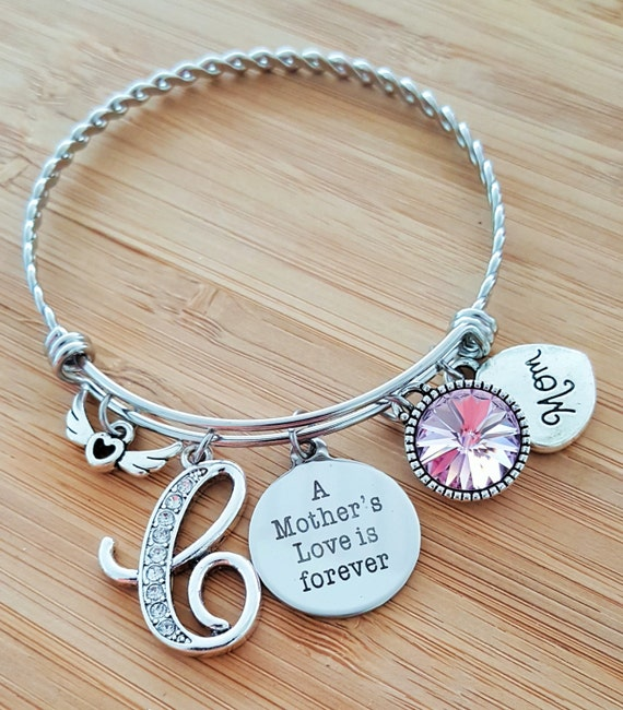 Sympathy Bracelet Sympathy Gift In Memory of Mom Memorial Bracelet Loss of Mother Remembrance Bracelet Remembrance Jewelry Love Forever