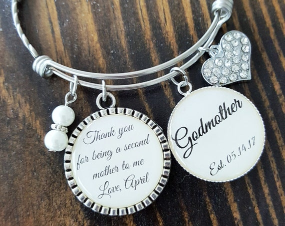 Godmother Gift / Gift for Godmother / GODMOTHER GIFT / GODMOTHER Bracelet / Christening Gift for Godmother / Godmother Baptism Gift