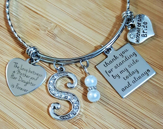Mother of the Bride Gift Mother of the Bride Bracelet Mother of the Bride Gift from Bride Thank You for Standing by My Side