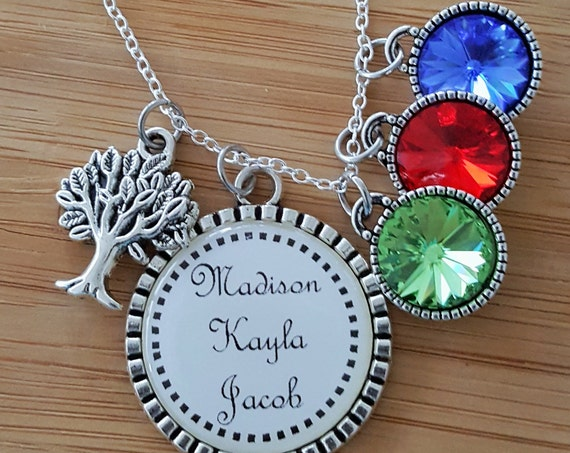 Personalized Birthstone Necklace Birthstone Necklace for Mom Birthstone Necklace for Grandma Mom Necklace Grandma Necklace Mom Gifts
